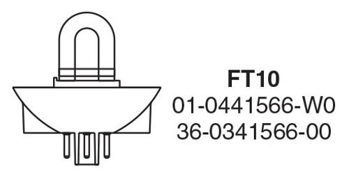 "Whelen FT10A 3-Pin ""U"" Strobe Tube, Plug-in, VP410 Series, VP415 Series, 2004, 2012, 2015 - FT10A"