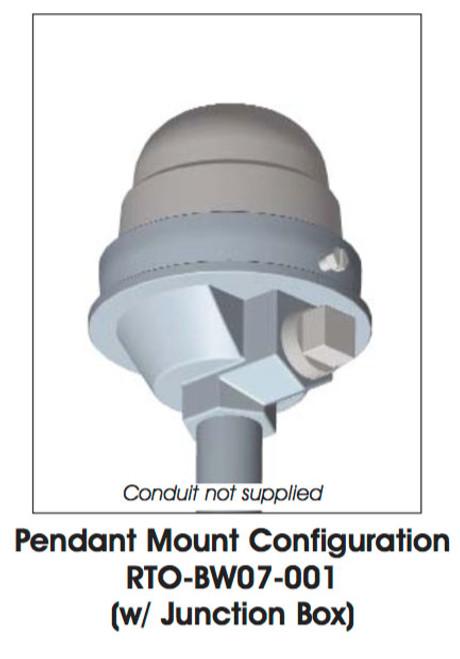 Dialight SafeSite Series LED White Visual Signal - Pendant Mount/Juction Box - RTODW18001
