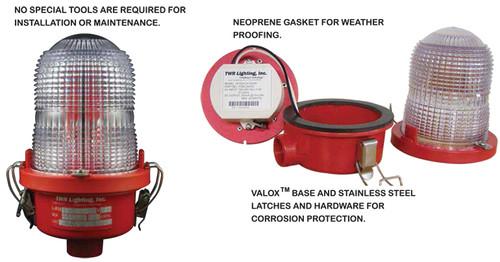 TWR Obstruction Lighting - OL1(BH) LED FAA Type L-810 - 12-24VDC