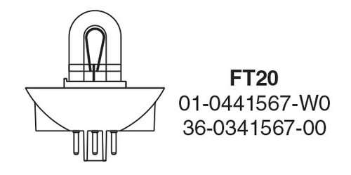 Whelen FT20 - 3-Pin Helix Strobe Tube - Plug-In  FT20A