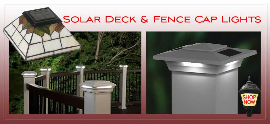 Solar Fence Post Cap Lights.