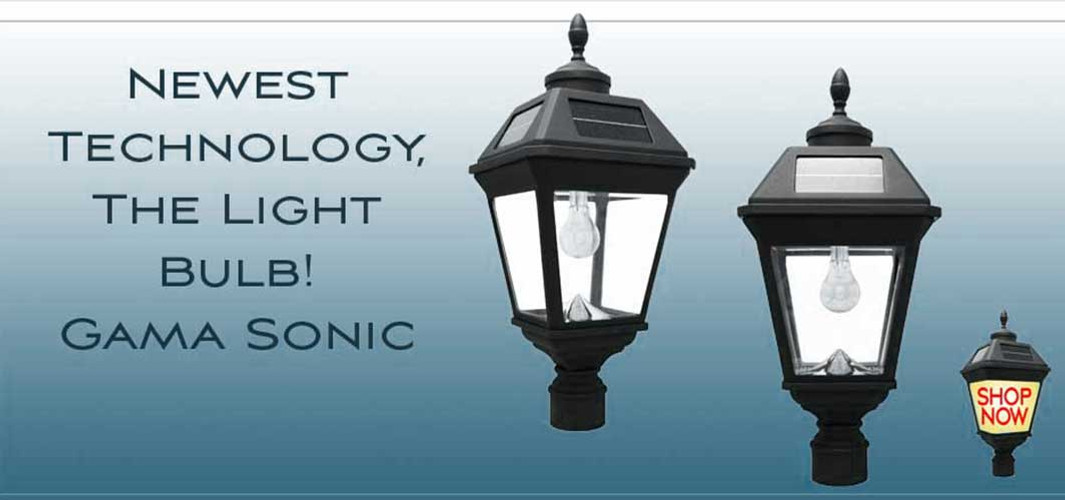Solar Light Bulb Lamp Post Lanterns.