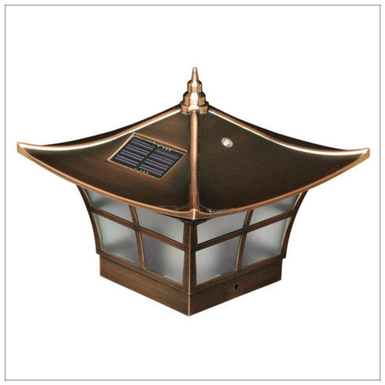 Solar Deck Post Cap Lights 4x4 Copper Ambience Wood Vinyl Posts