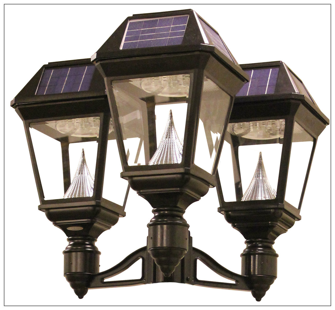 Solar Lamp Post Light Fixture Bright 900 Lumens Gama Sonic Lights