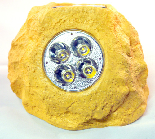 Solar rock lights in Sandstone color.