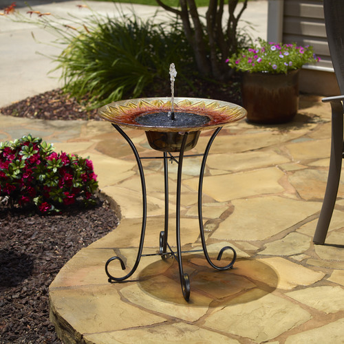 Bird Bath Solar Water Fountain - Smart Solar Sunflower Day Only