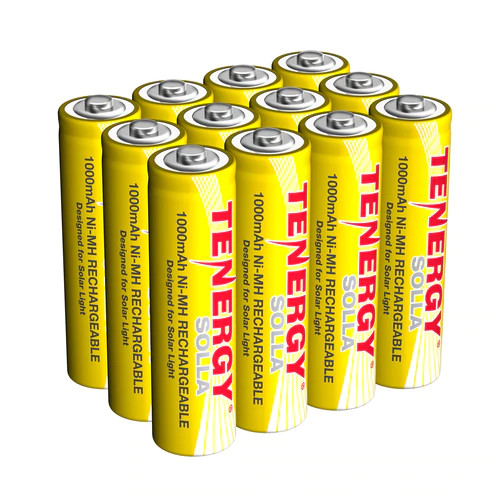 AA Ni-MH Replacement batteries for solar lights have 2000 cycles, and will last 5 years.