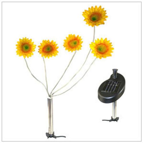 Solar Garden Lights Sunflowers with 5 Blinking LED Lights.