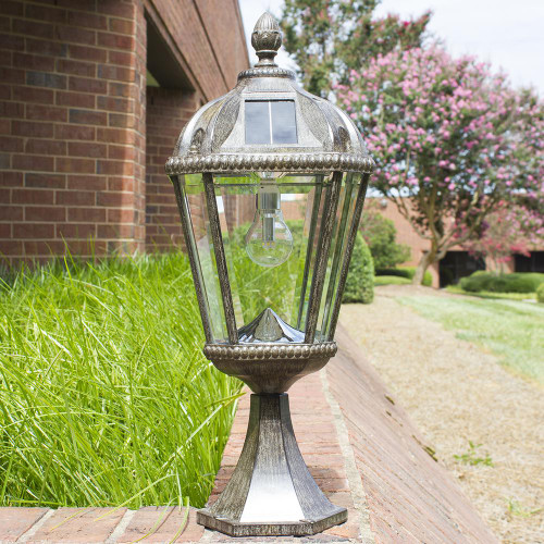 Solar Carriage Lanterns with Tuscan Design for Column and Pedestal installation.