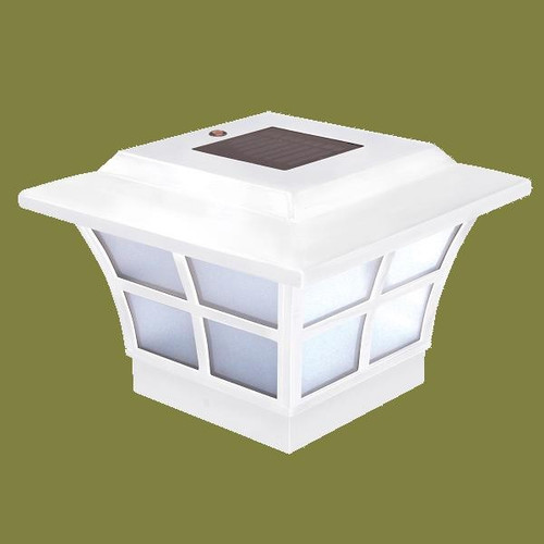 4x4 White Solar Post Cap Lights are manufactured by Classy Caps.