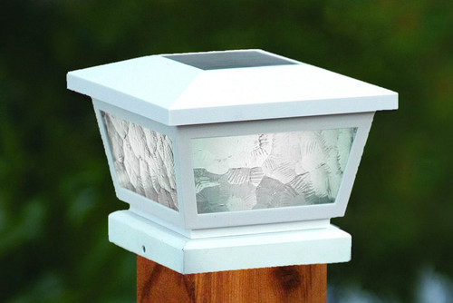 Fairmont Solar Deck Post Cap Lights will fit on 3.5 inch wood, 4 inch and 5 inch vinyl fence posts.