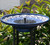Listen to the soothing sounds of running water with the Umbrella  fountain head.