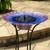 Smart Solar Birdbath Fountain - Glass Bell Flowers Day Running