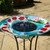 Solar birdbath fountain is 24.3 inches high, with a diameter of  20 inches.