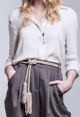 ADA Fringe Saga Belt [Grey]