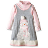 Bonnie Baby Snowman Dress (3 - 6 Months)