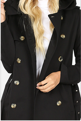 Black Double Breasted Trench Coat *Styletyme Exclusive*