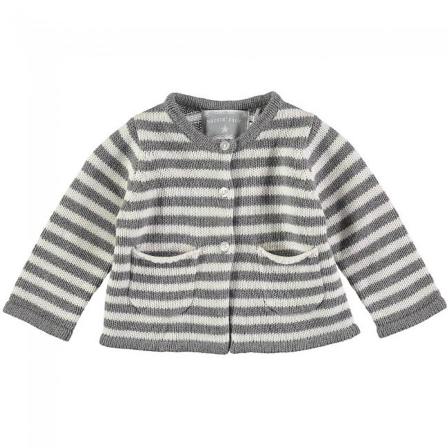 Rockin' Baby Castin' Grey Stripe Cardie (3-6 Months)