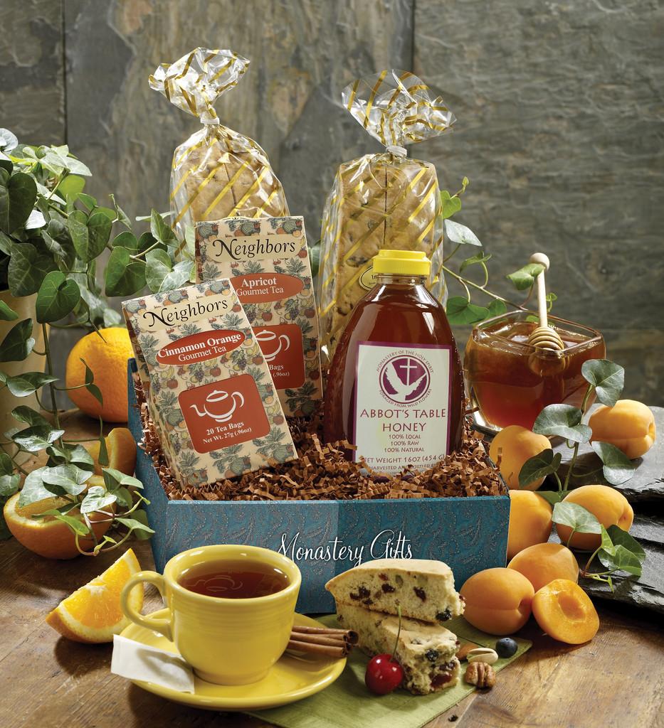 Monk's Biscotti, Tea & Honey Gift Box