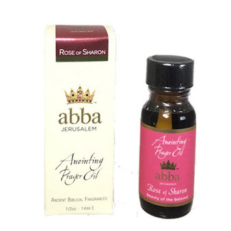 Anointing Oil Rose Of Sharon Anointing Prayer Oil 1/2 Oz.  From Galilee