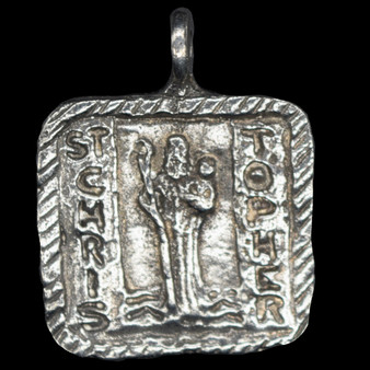 St. Christopher: Patron of Travelers and Motorists Medal (Front)