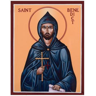 """St. Benedict Icon, 11"""" x 14"""""""