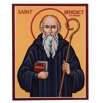 """St. Benedict Icon 15"""" x 19"""""""