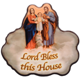 "Holy Family ""Lord Bless This House"" Plaque"