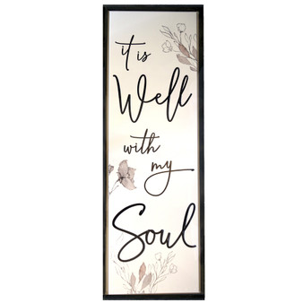 """It Is Well With My Soul"" Wall Décor, 15.75"" x 45"" x 1"""