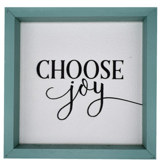 """Choose Joy"" Wall Décor, About 11"" x 11"" x 2"""