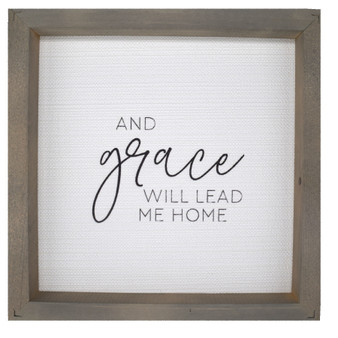 """And Grace Will Lead Me,"" Wall Décor, About 11"" x 11"" x 2"""