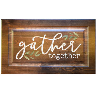 """Gather Together"" Wall Art, 24 "" x 14"" x .75"""