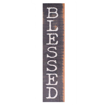 """Inspirational block, """"Blessed,"""" 1.5""""W x 7.25""""H x 1.375""""D"""