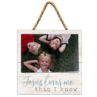 """Jesus Loves Me This I Know"" Picture Frame, Holds 6"" x 4"" Photo"