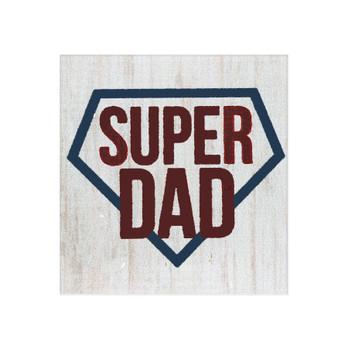 """Super Dad"" 3.5"" x 3.5"" Pine Block"