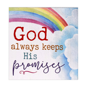 """God Always Keeps His Promises"" 3.5"" x 3.5"""