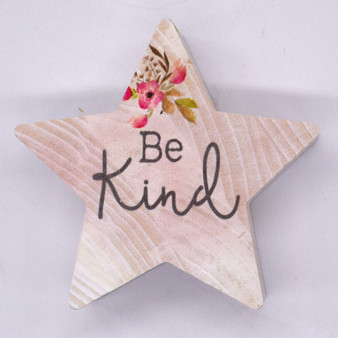 """Be Kind"" 3.5""Tall, Wood Star"
