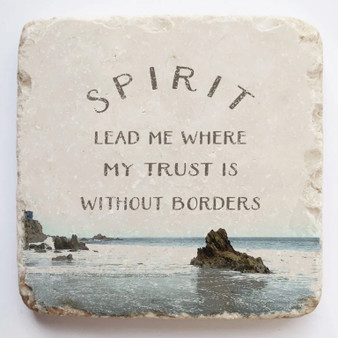"""Spirit Lead Me"" Scripture Stone, Available in Two Sizes."