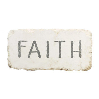 """Faith"" Scripture Stone"