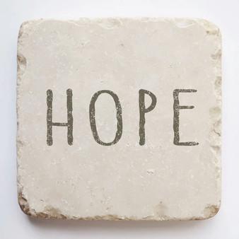 """Hope"" Scripture Stone, 2"" x 2"" x 1"""