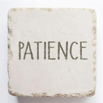 """Patience"" Scripture Stone, 2"" x 2"" x 1"""