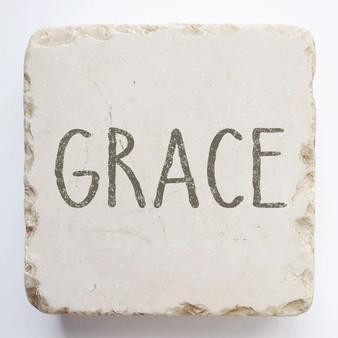 """""""Grace"""" Scripture Stone. 2"""" x 2"""" x 1""""."""