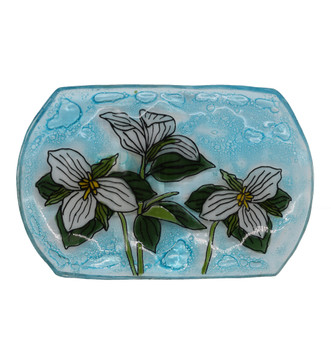 Recycled Glass Trillium Flower Soap Dish