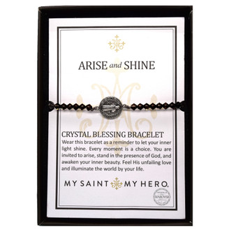 Arise and Shine Bracelet with Black Crystals