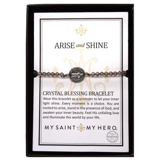 Arise and Shine Bracelet with Gray Crystals