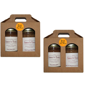 Honey Butter Two Pack: Available in Pecan and Toffee Pecan;and Milk ChocolatePecan and Pecan