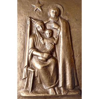 Holy Family Bronze Plaque with Star of Bethlehem