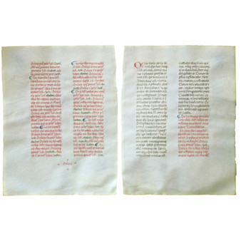 Breviary Leaf, Letters in Blue and Red, circa 1460, Northern Italy