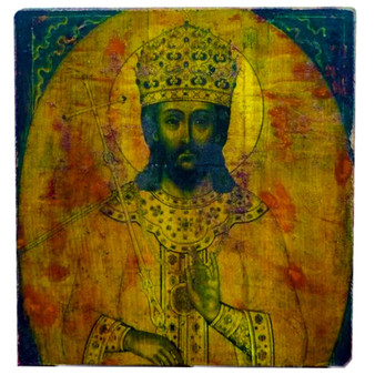 Late 18th Century Wood Icon from Russia