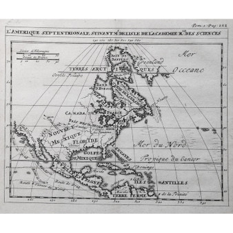Map of North America Issued by the Dutch Academy of Sciences, circa 1720